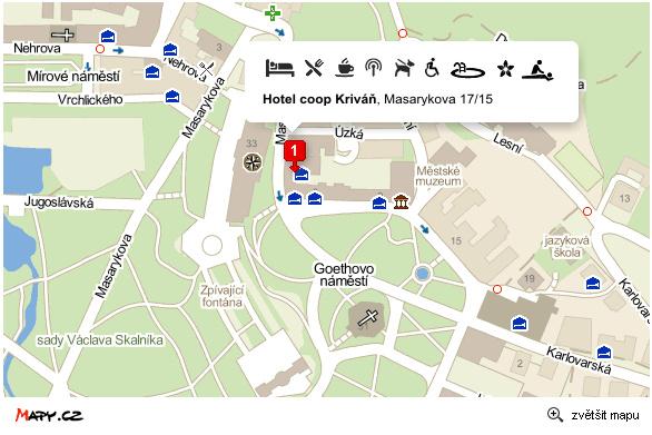 mapa Kontakty